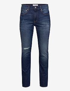 CKJ 058 SLIM TAPER - slim jeans - bb034 - dark blue destr