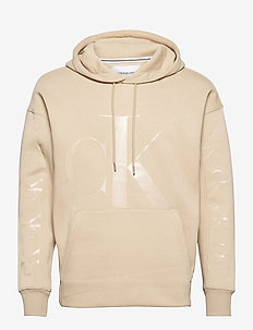CK ECO FASHION HOODIE - sweats à capuche - irish cream