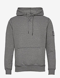 MONOGRAM BADGE GRINDLE HOODIE - sweats à capuche - ck black