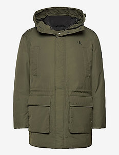 FAKE DOWN TECHNICAL PARKA - parkas - deep depths