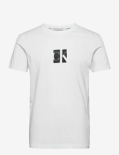 SMALL CENTER CK BOX TEE - kortermede t-skjorter - bright white