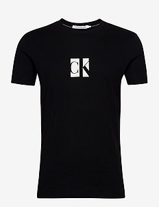 SMALL CENTER CK BOX TEE - korte mouwen - ck black