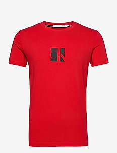 SMALL CENTER CK BOX TEE - kortermede t-skjorter - red hot