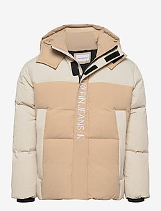 CK ECO FASHION  DOWN PUFFER - fôrede jakker - irish cream