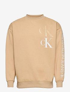 CK ECO FASHION MOCK NECK - sweats - irish cream