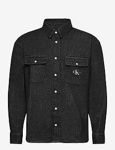 OVERSIZED SHIRT - tops - denim black