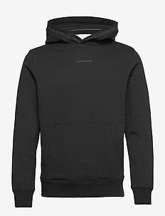LOGO JACQUARD HOODIE - podstawowe bluzy - ck black