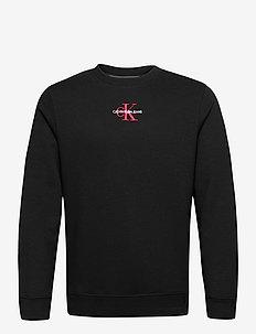 NEW ICONIC ESSENTIAL CREW NECK - basic sweatshirts - ck black