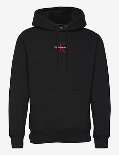 NEW ICONIC ESSENTIAL HOODIE - basic sweatshirts - ck black
