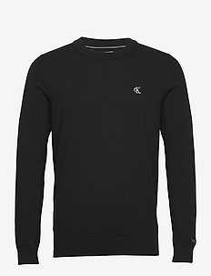 MONOGRAM CHEST LOGO CN SWEATER - perusneuleet - ck black
