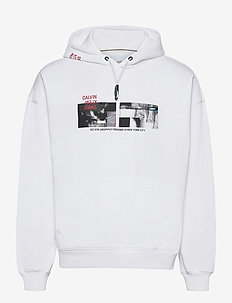PHOTO HOODIE - kapuzenpullover - bright white