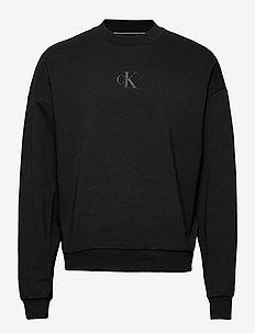 CK SLICED BACK GRAPHIC CN - basic sweatshirts - ck black