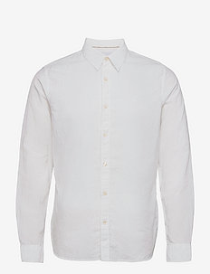 LINEN LS SHIRT - chemises basiques - bright white