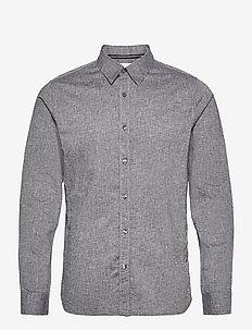LINEN LS SHIRT - chemises basiques - ck black