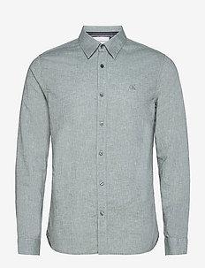 LINEN LS SHIRT - chemises basiques - duck green