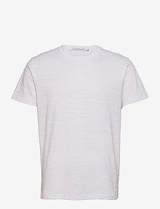 LOGO AOP TEE - t-shirts à manches courtes - bright white