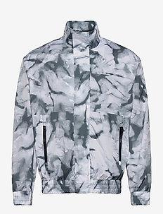 AOP ZIP THROUGH JACKET - kurtki bomber - quiet grey marble aop