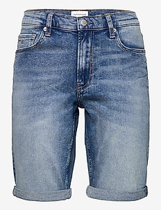 SLIM SHORT - denim shorts - denim light