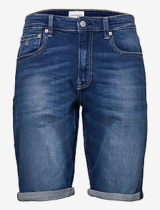 REGULAR SHORT - denim shorts - denim dark