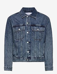 REGULAR DENIM JACKET - jeansjackor - denim dark