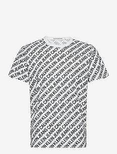 AOP DIAGONAL TEE - t-shirts à manches courtes - bright white