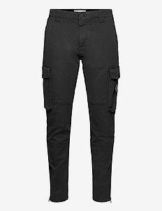 SKINNY WASHED CARGO PANT - cargobukser - ck black