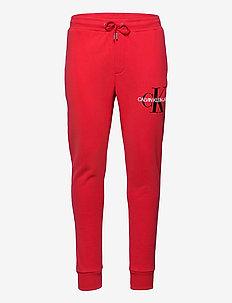 MONOGRAM JOG PANT - spodnie dresowe - racing red