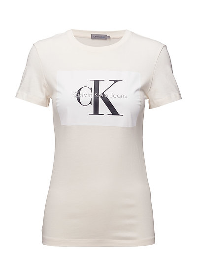 e12f8faa7954 Calvin Klein Jeans Tanya-40 Cn Tee (Pearled Ivory / Bright White ...