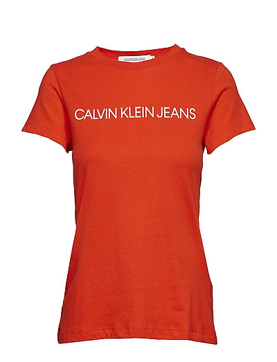 INSTITUTIONAL LOGO SLIM FIT TEE - PUMPKIN RED