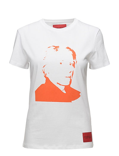WARHOL PORTRAIT REGU - BRIGHT WHITE / RED