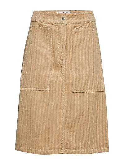 Corduroy Carpenter S Knielanges Kleid Beige CALVIN KLEIN JEANS