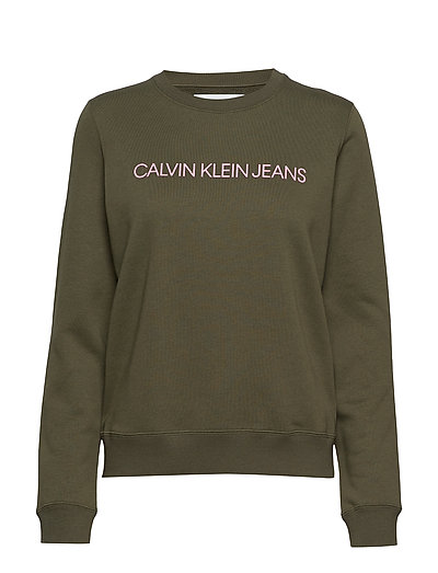 Institutional Regula Sweat-shirt Pullover Grün CALVIN KLEIN JEANS