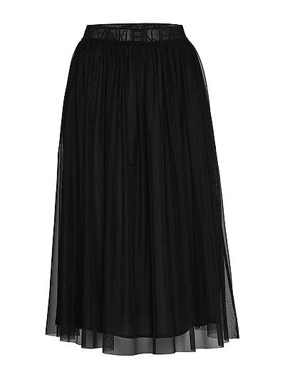 Double Layer Mesh Skirt Knielanges Kleid Schwarz CALVIN KLEIN JEANS