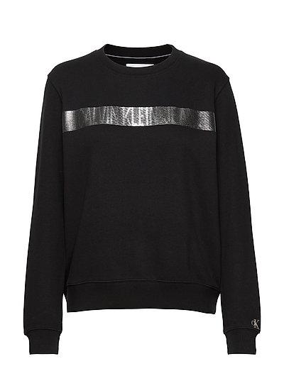 Metallic Stripe Logo Cn Sweat-shirt Pullover Schwarz CALVIN KLEIN JEANS | CALVIN KLEIN SALE