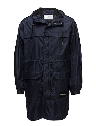 MID LENGTH HOODED NYLON PARKA - NIGHT SKY