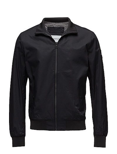 DOUBLE SIDE POCKET ZIP THROUGH BOMBER - CK BLACK