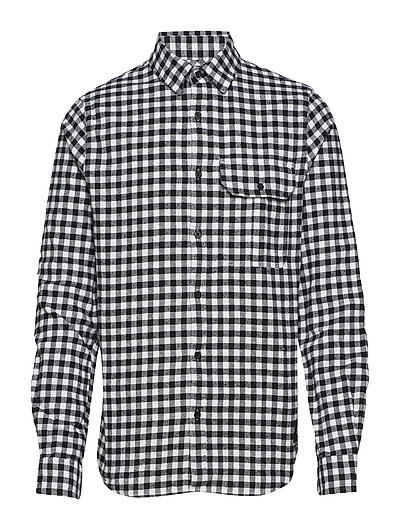 GINGHAM CHECK REG FI - BRIGHT WHITE