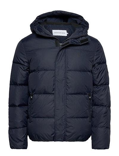Hooded Down Puffer Jacket Gefütterte Jacke Blau CALVIN KLEIN JEANS | CALVIN KLEIN SALE