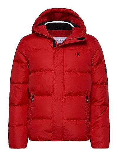 Hooded Down Puffer Jacket Gefütterte Jacke Rot CALVIN KLEIN JEANS | CALVIN KLEIN SALE