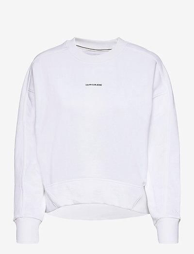 MICRO BRANDING SWEATSHIRT - sweatshirts & hoodies - bright white