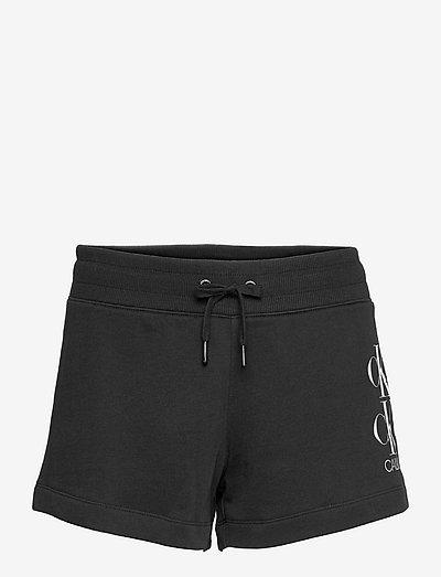 SHINE LOGO KNIT SHORT - casual shorts - ck black