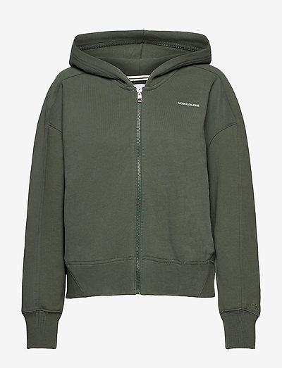 MICRO BRANDING ZIP-THROUGH - sweatshirts & hoodies - duck green