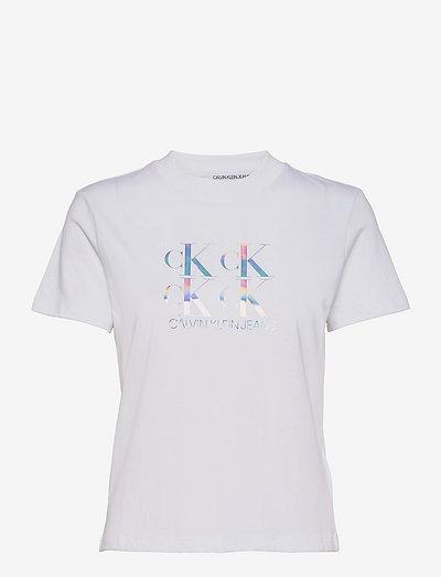 SHINE LOGO TEE - t-shirts - bright white