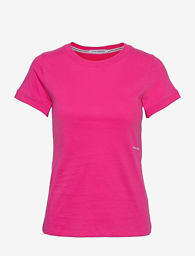 MICRO BRANDING OFF PLACED TEE - t-shirts - party pink