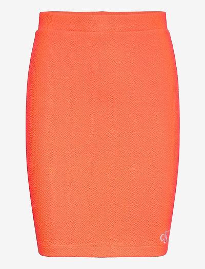 SLUB RIB MINI SKIRT - midi kjolar - shocking orange