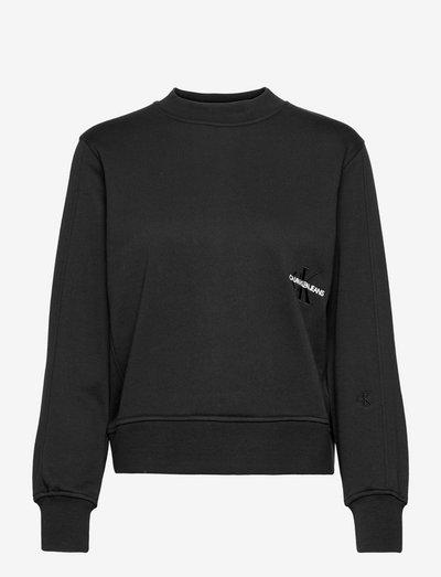 OFF PLACED MONOGRAM CREW NECK - sweatshirts & hættetrøjer - ck black