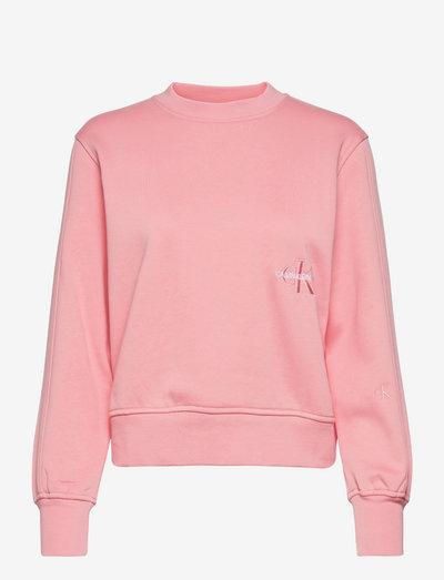 OFF PLACED MONOGRAM CREW NECK - sweatshirts & hættetrøjer - soft berry
