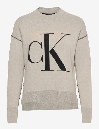 CK LOOSE SWEATER - trøjer - muslin
