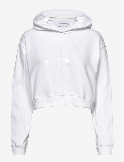 TONAL MONOGRAM HOODIE - sweatshirts & hoodies - bright white