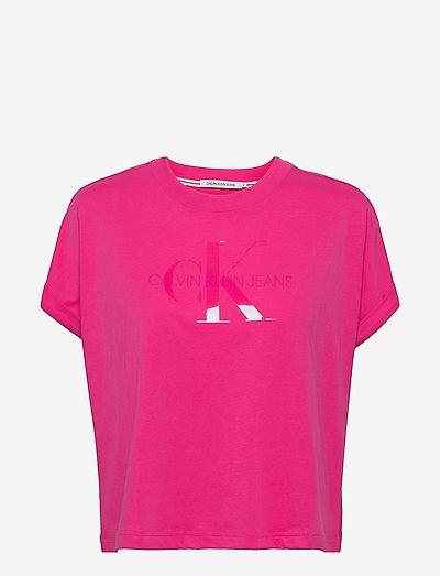 TONAL MONOGRAM TEE - t-shirts - party pink